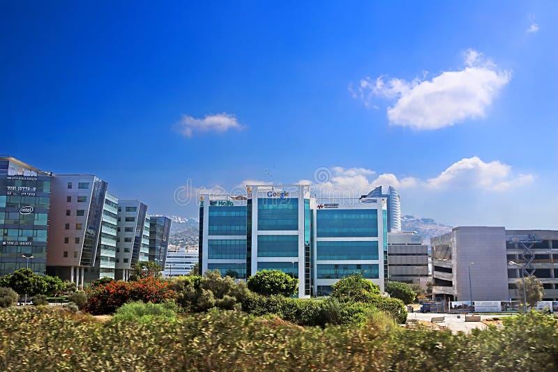 Vista del centro di sviluppo di Google a Matam, Haifa, Israele fotografie stock libere da diritti