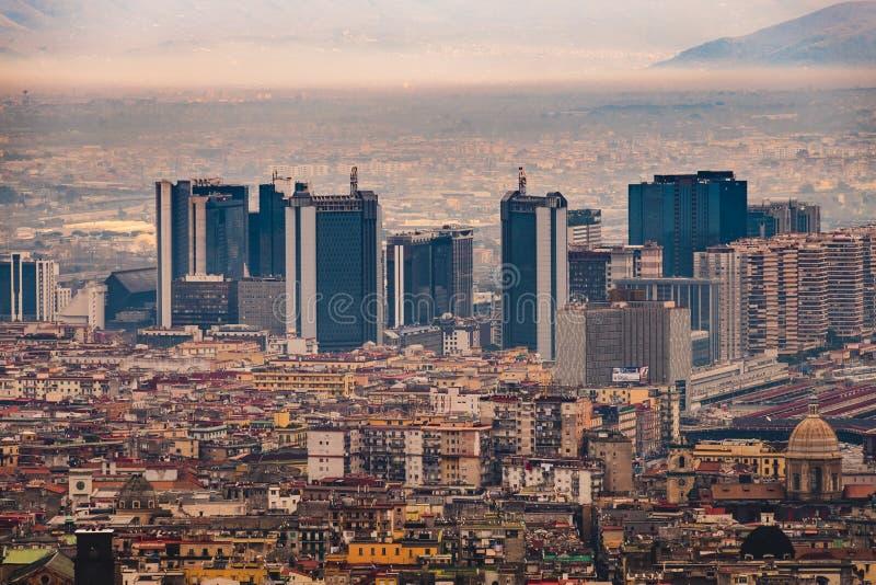 Vista del centro direccional de Nápoles del Museo Nacional de san Martín imágenes de archivo libres de regalías