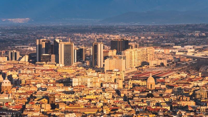 Vista del centro direccional de Nápoles del Museo Nacional de san Martín fotos de archivo