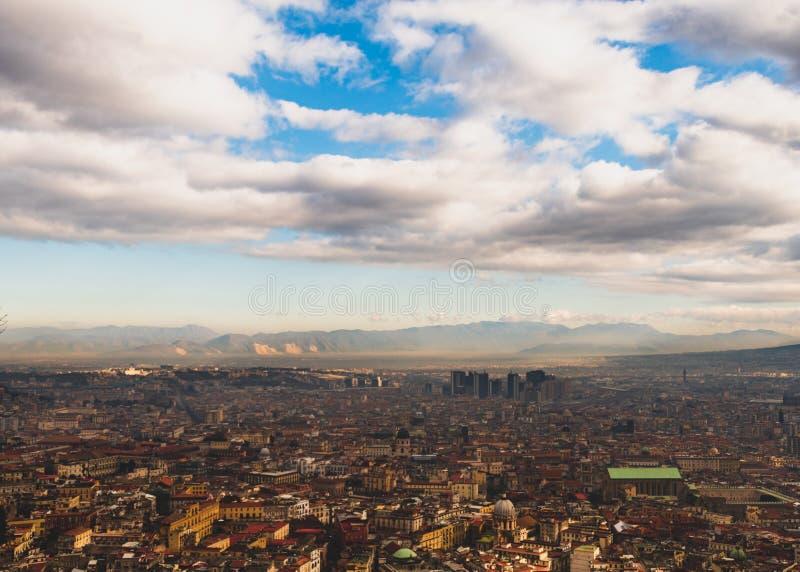 Vista del centro direccional de Nápoles del Museo Nacional de san Martín fotos de archivo libres de regalías