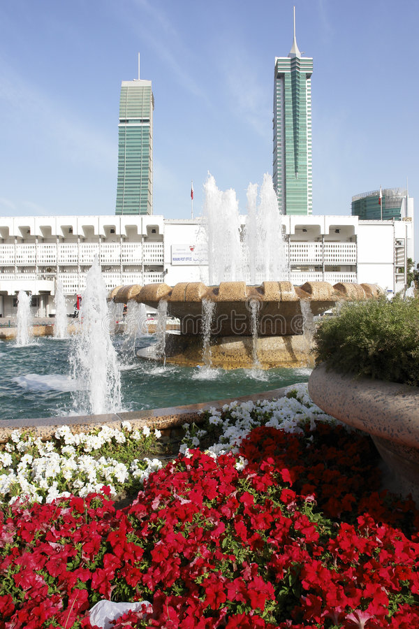 Vista del centro urbano di Manama fotografia stock libera da diritti