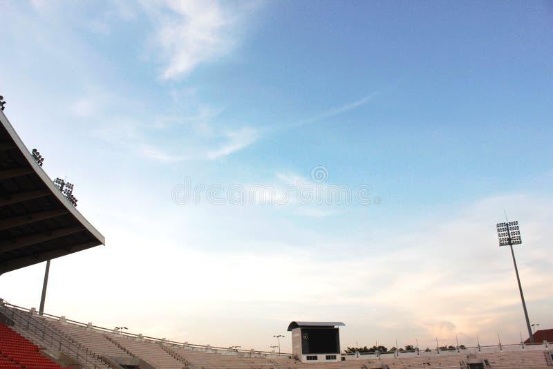 Vista del cielo allo stadio fotografia stock