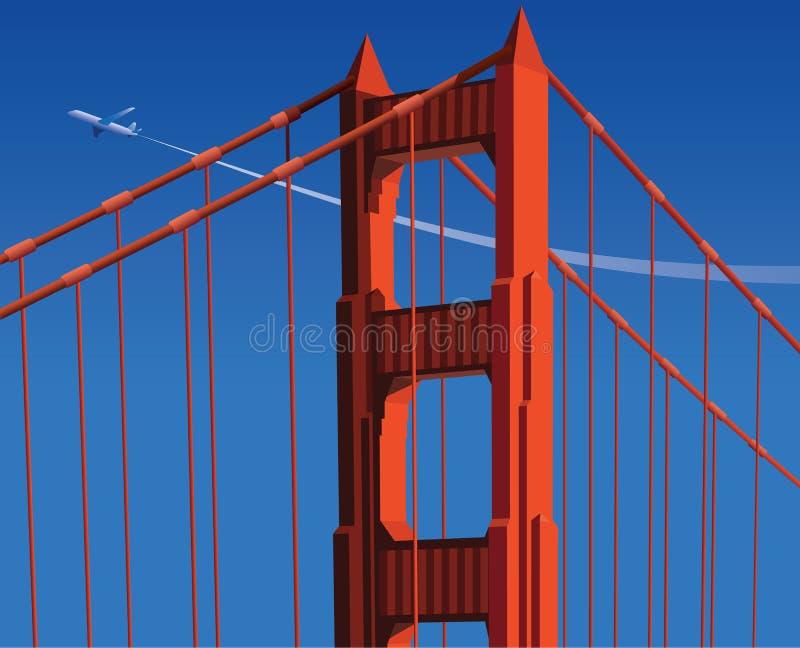 Vista del cielo dal ponte illustrazione di stock