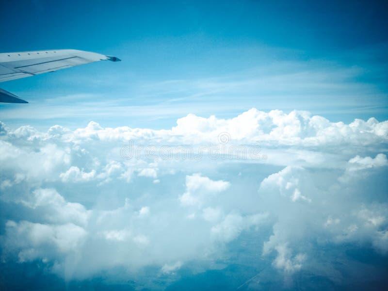 Vista del cielo del aeroplano imágenes de archivo libres de regalías