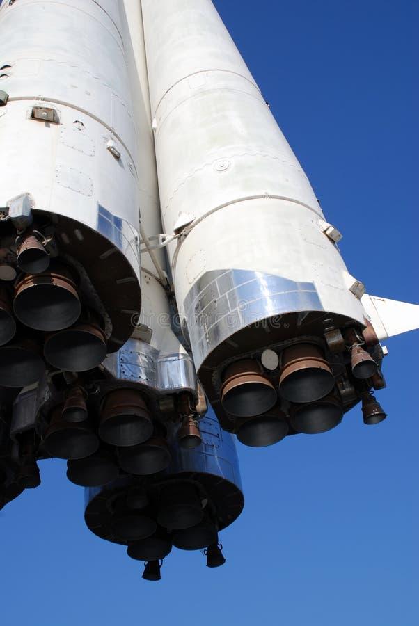 Vista del cohete de debajo imagen de archivo libre de regalías