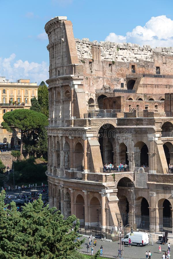 Vista del Colosseum, Roma, Italia, Europa fotografia stock libera da diritti