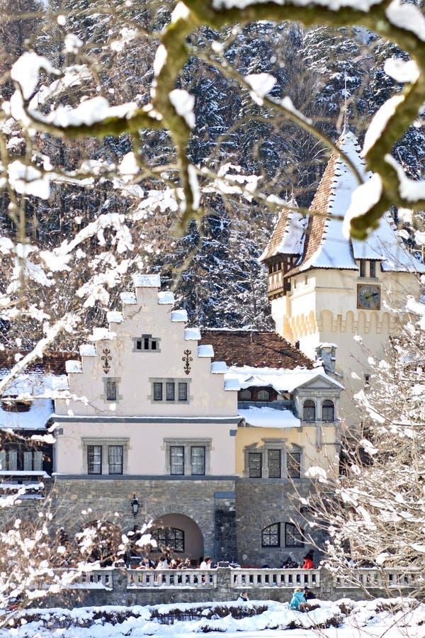 Vista del complejo del castillo de Peles, Sinaia, Rumania foto de archivo libre de regalías