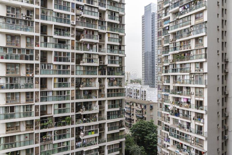 Vista del condominio della proprietà di Chengdu fotografie stock