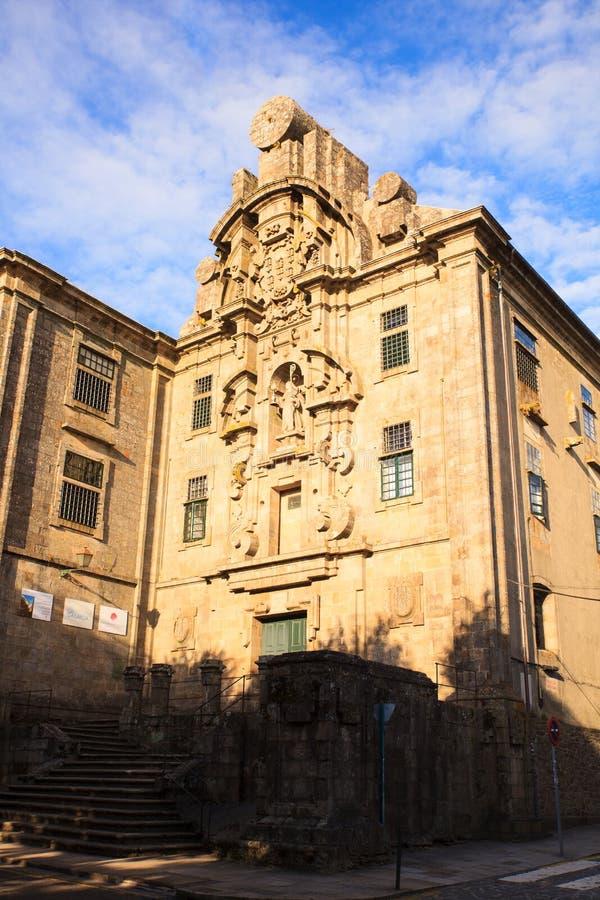 Vista del convento de Santa Clara, Santiago foto de archivo