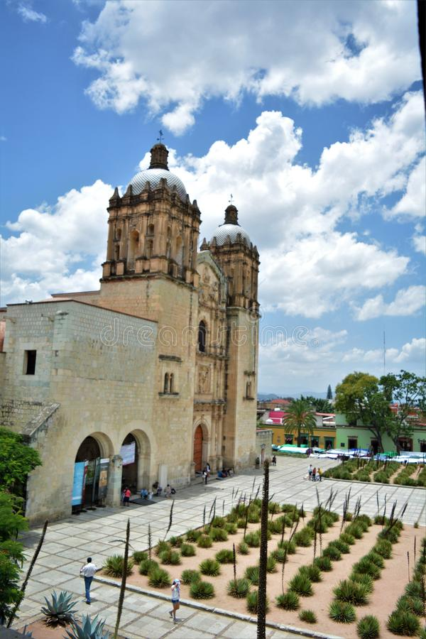 Vista del Convento de Santo Domingo en Oaxaca. One of the most beautiful and important places in Oaxaca city, a place full of history. Amazing construction, the royalty free stock photo