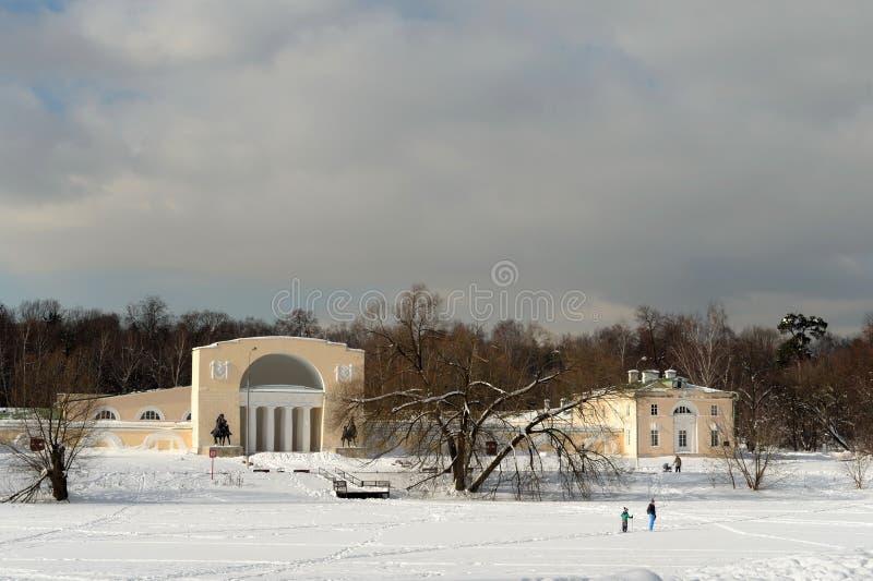 """Vista del cortile equestre nel parco naturale-storico """"Kuzminki """"Mosca immagini stock"""
