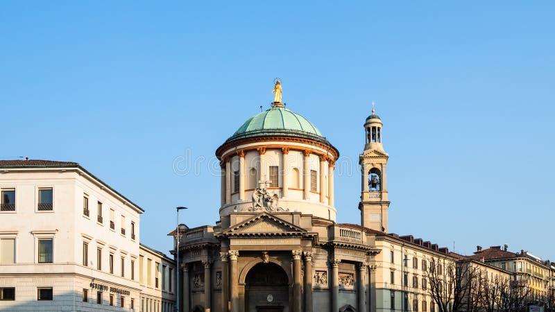 Vista del delle Grazie de Santa Maria Immacolata de la iglesia imágenes de archivo libres de regalías