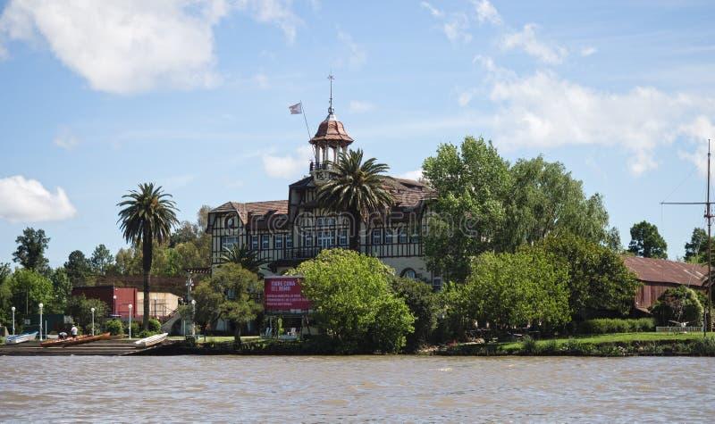Vista del delta de la placa del río, la Argentina fotos de archivo