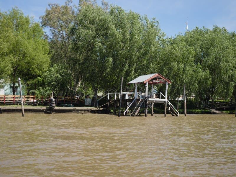 Vista del delta de la placa del río, la Argentina foto de archivo