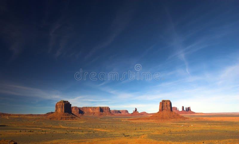 Vista del deserto rosso fotografia stock libera da diritti