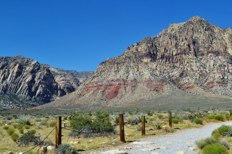 Vista del desierto fotos de archivo