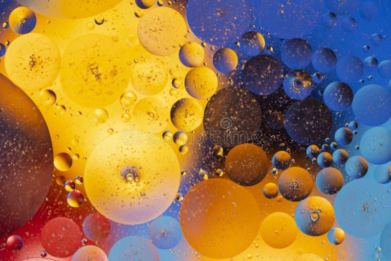 Vista del design astratto rosso, blu, arancione, giallo e colorato, struttura immagini stock libere da diritti