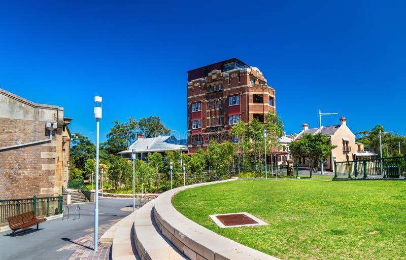 Vista del distretto di Barangaroo a Sydney, Australia fotografia stock libera da diritti
