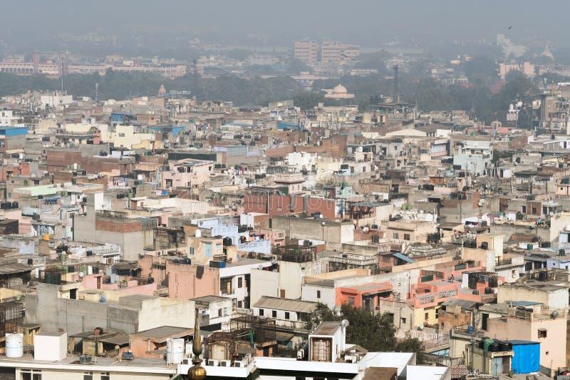 Vista del distrito viejo de Nueva Deli fotos de archivo libres de regalías