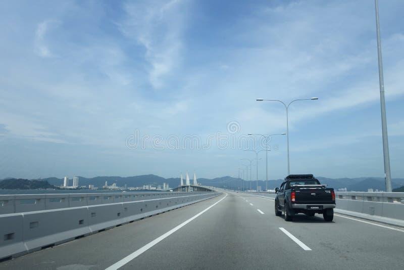 Vista del 2do puente de Penang imagen de archivo