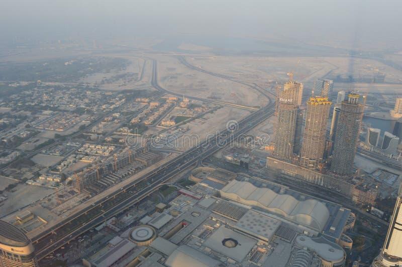 Vista del Dubai-Burj Khalifa immagine stock