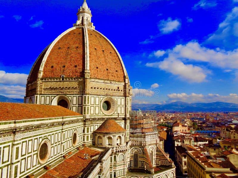 Vista del duomo a Firenze, Italia fotografia stock libera da diritti