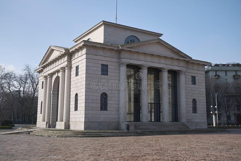 Vista del edificio de Caselli fotos de archivo