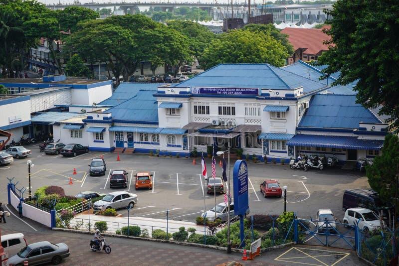 Vista del edificio del gobierno en la ciudad de Malaca, Malasia fotografía de archivo