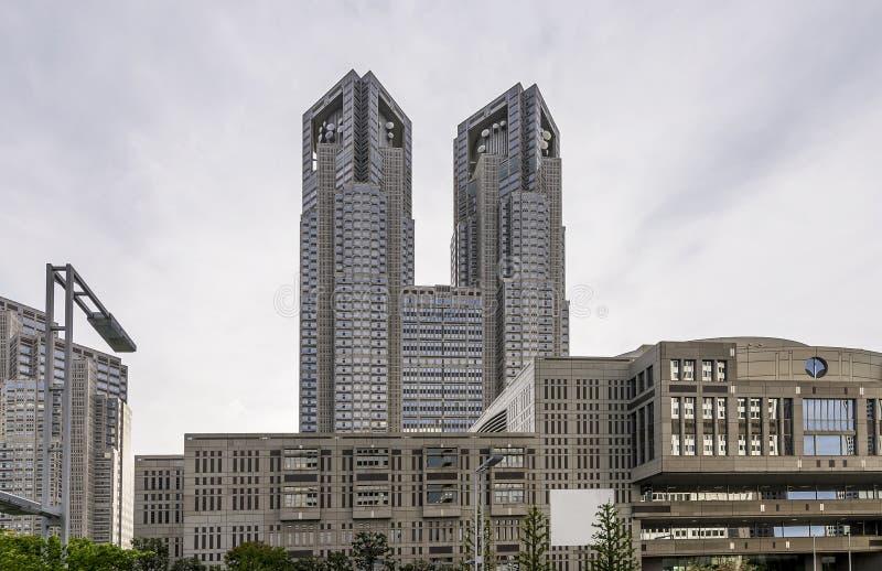 Vista del edificio metropolitano del gobierno de Tokio, Shinjuku, Tokio, Japón imagen de archivo