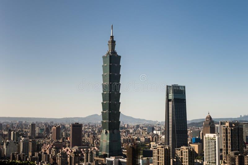 Vista del edificio del World Trade Center de Taipei 101 foto de archivo libre de regalías