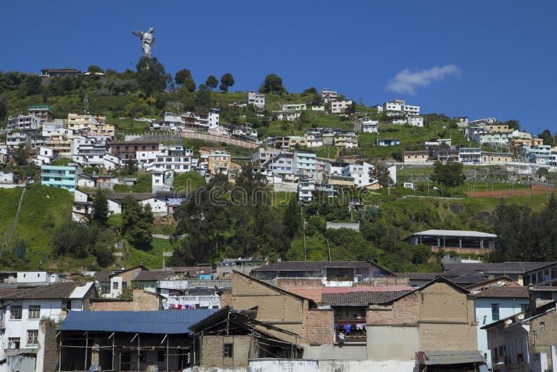 Vista del EL Panecillo en Quito, Ecuador fotos de archivo libres de regalías