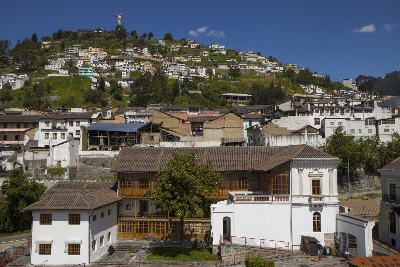 Vista del EL Panecillo en Quito, Ecuador fotografía de archivo