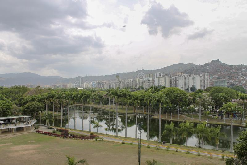 Vista del EL Valle a Caracas, Venezuela fotografia stock libera da diritti