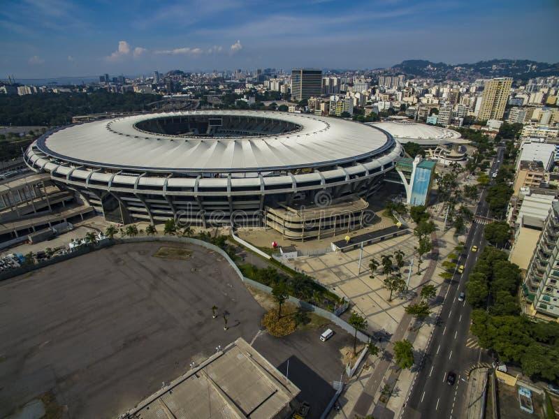 Vista del estadio de Maracana en Río fotos de archivo libres de regalías