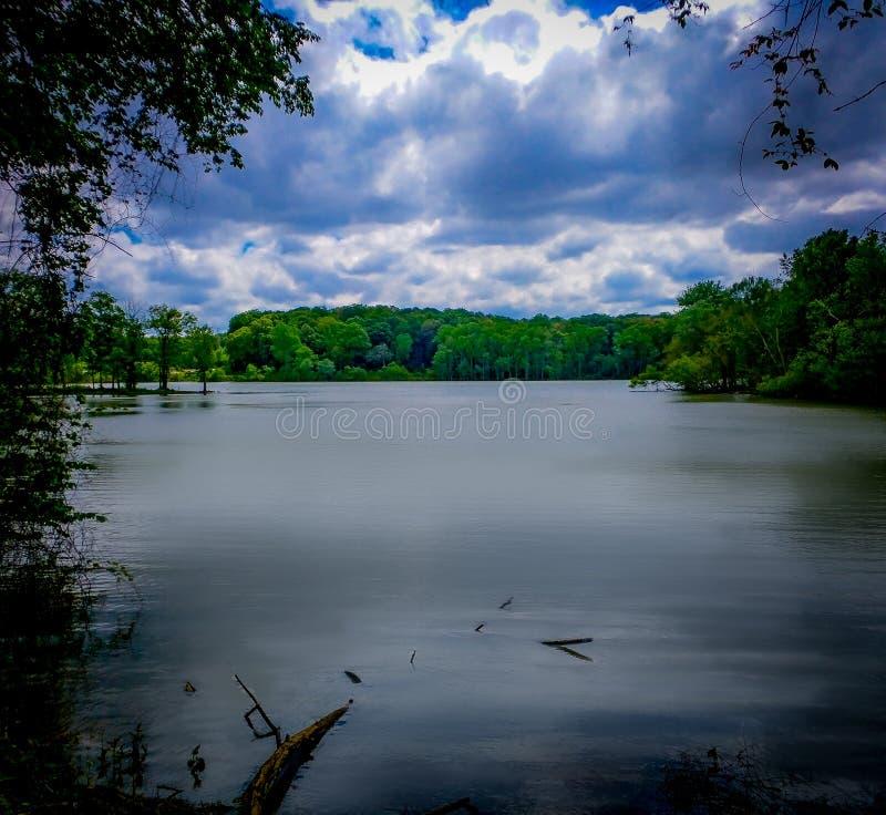 Vista del fiume della primavera immagine stock libera da diritti