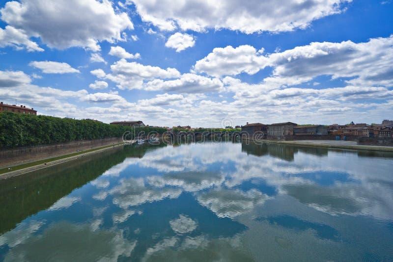 Vista del fiume di Garrone immagine stock