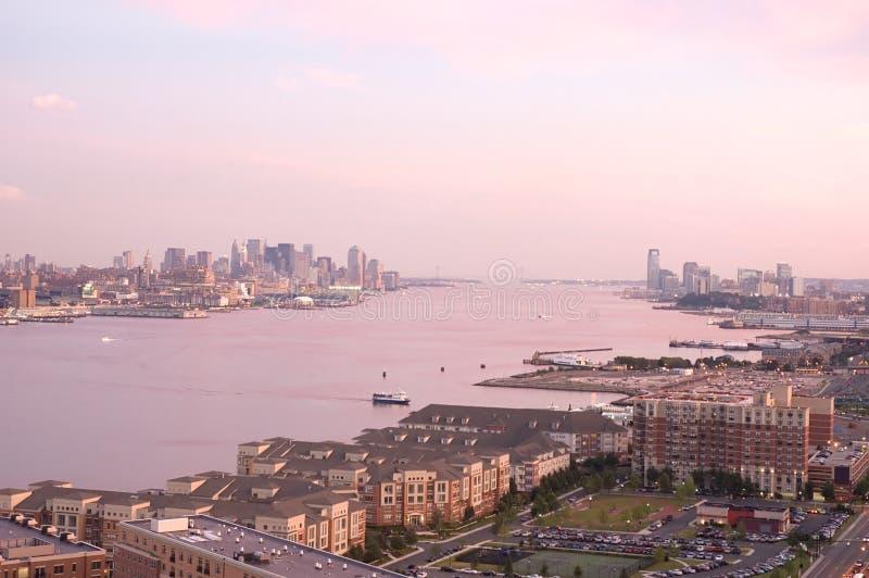 Vista del fiume di Hudson immagine stock libera da diritti