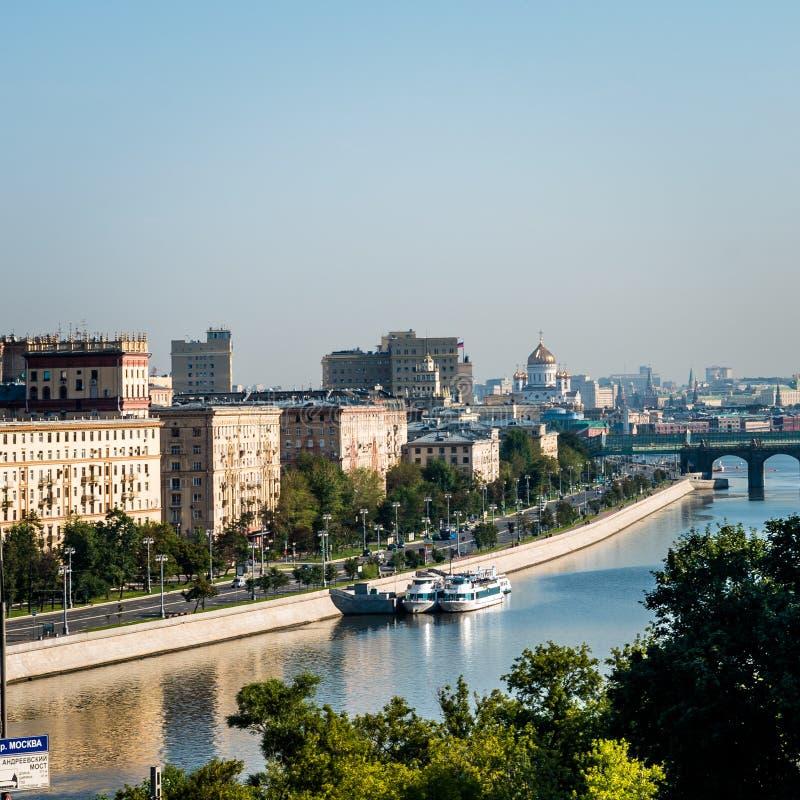 Vista del fiume di Mosca da RAS Viewpoint fotografie stock libere da diritti