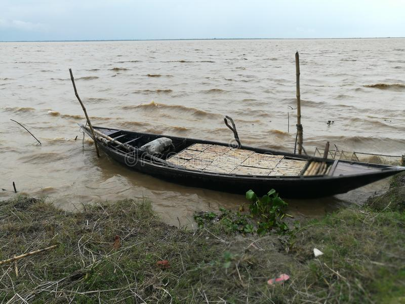Vista del fiume di Padma fotografia stock libera da diritti