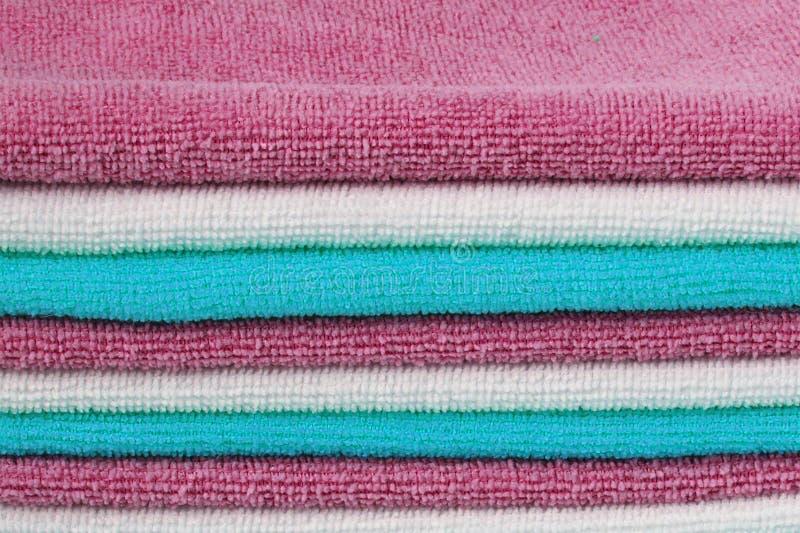 Vista del fondo degli asciugamani fotografia stock