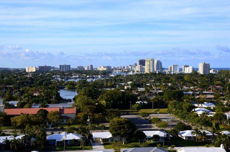 Vista del Fort Lauderdale de los marismas del puerto fotografía de archivo libre de regalías