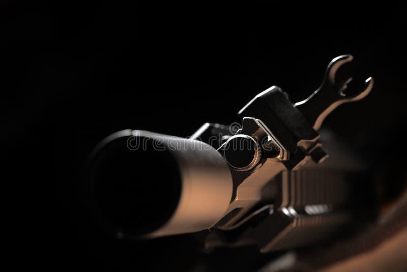 Vista del frente AR-15 fotografía de archivo libre de regalías