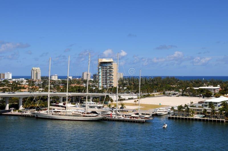 Vista del frente del agua de Fort Lauderdale imagen de archivo libre de regalías