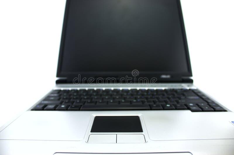Vista del frontale del computer portatile immagini stock libere da diritti