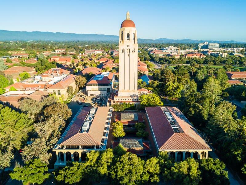Vista del fuco della torre dell'aspirapolvere di Stanford University immagini stock libere da diritti