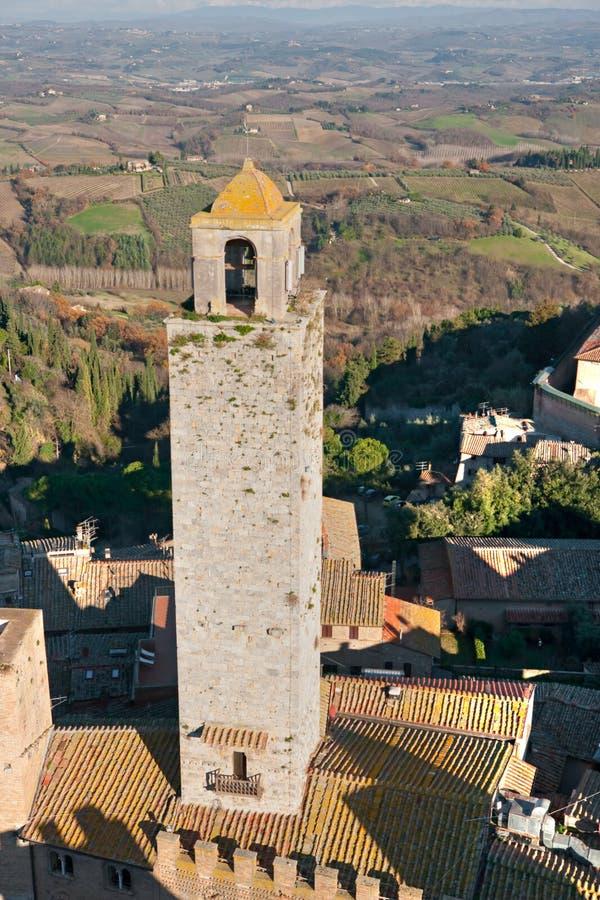 Vista del gimignano del san, Toscana, Italia. fotografie stock libere da diritti