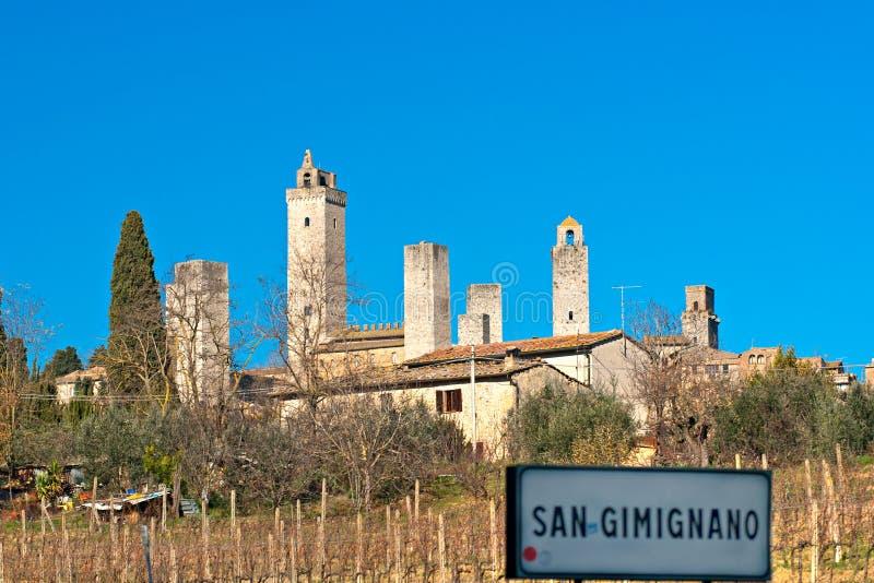 Vista del gimignano del san, Toscana, Italia. immagine stock