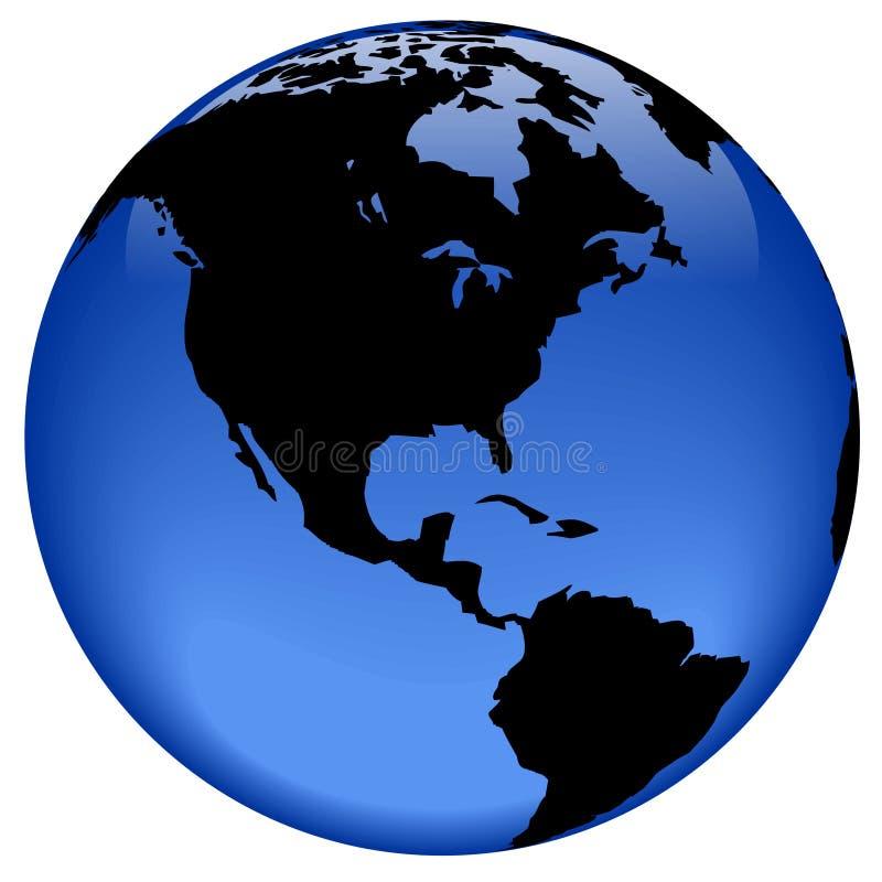 Vista del globo - America royalty illustrazione gratis
