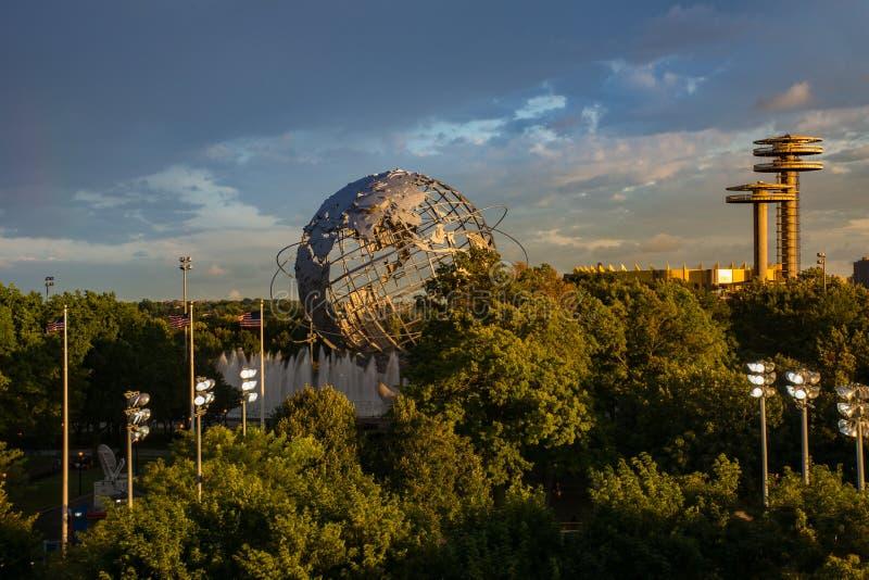 Vista del globo en parque de la corona de Flushing Meadows en el Queens Nueva York fotos de archivo