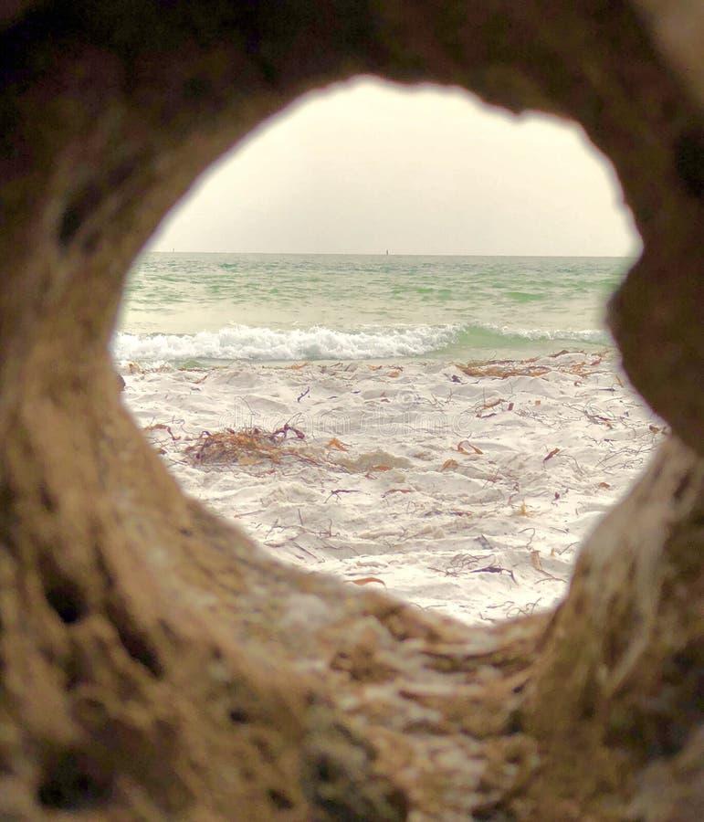 Vista del Golfo de México imagenes de archivo